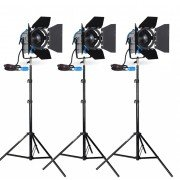 ARRI CINELIGHT FRESNEL kit 3 X 1000w