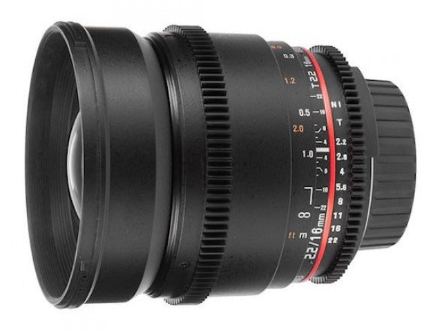 Samyang 16mm T2.2 Cine AS UMC VDSLR (Canon) для кроп матриц